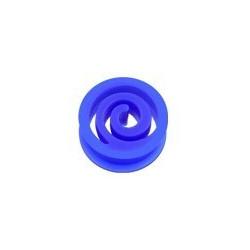 Piercing Plug spiral en silicone Bleu