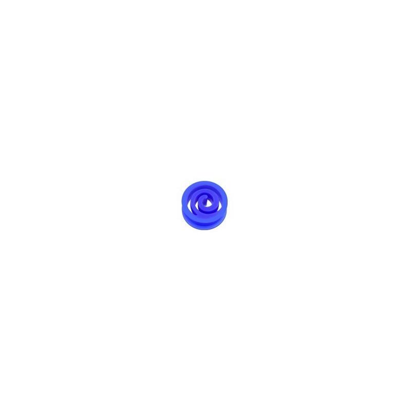 Plug spiral en silicone Bleu écarteur tunnel en bioflex Bleu foncé