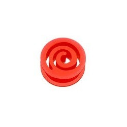 Piercing Plug spiral en silicone Rouge