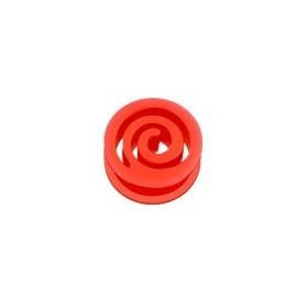 piercing Plug spiral en silicone Rouge écarteur tunnel en bioflex rouge