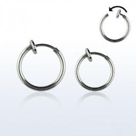 Faux piercing anneaux acier pour lever oreille nez