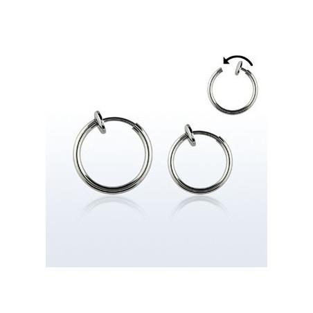 Faux piercing anneaux acier