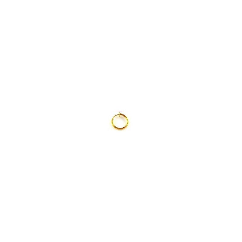 Faux piercing anneaux dorée adaptable oreil nez levre et nombril