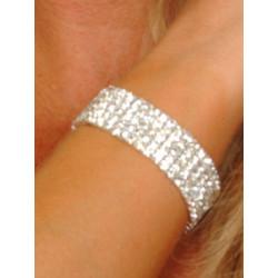 Bracelet 5 rangs cristal blanc