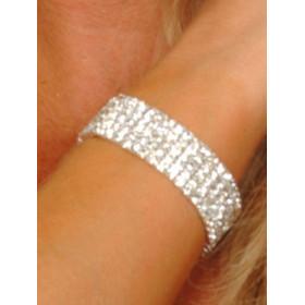 Bracelet femme 5 rangs cristal autrichien blanc