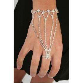 Bracelet bague femme sexy Cristal Slave