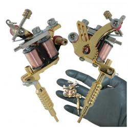 Collier pendentif mini machine tatouage Or