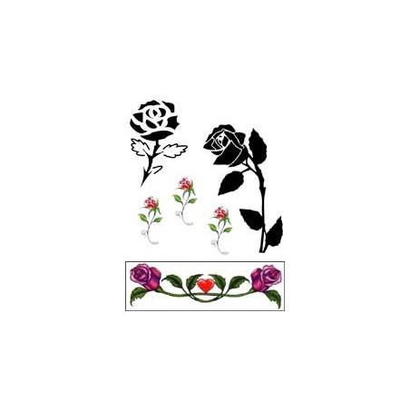 Tatouage autocollant Rose