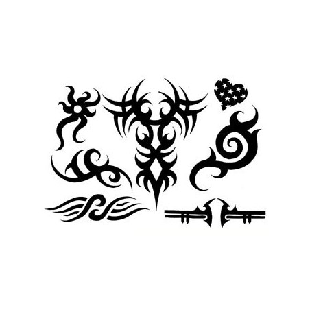 Tatouages Tribal autocollants 7 pieces