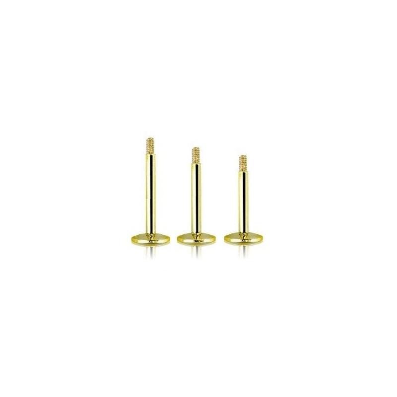 Barre de piercing pour micro Labret en titane de couleur or doré pas cher de qualité