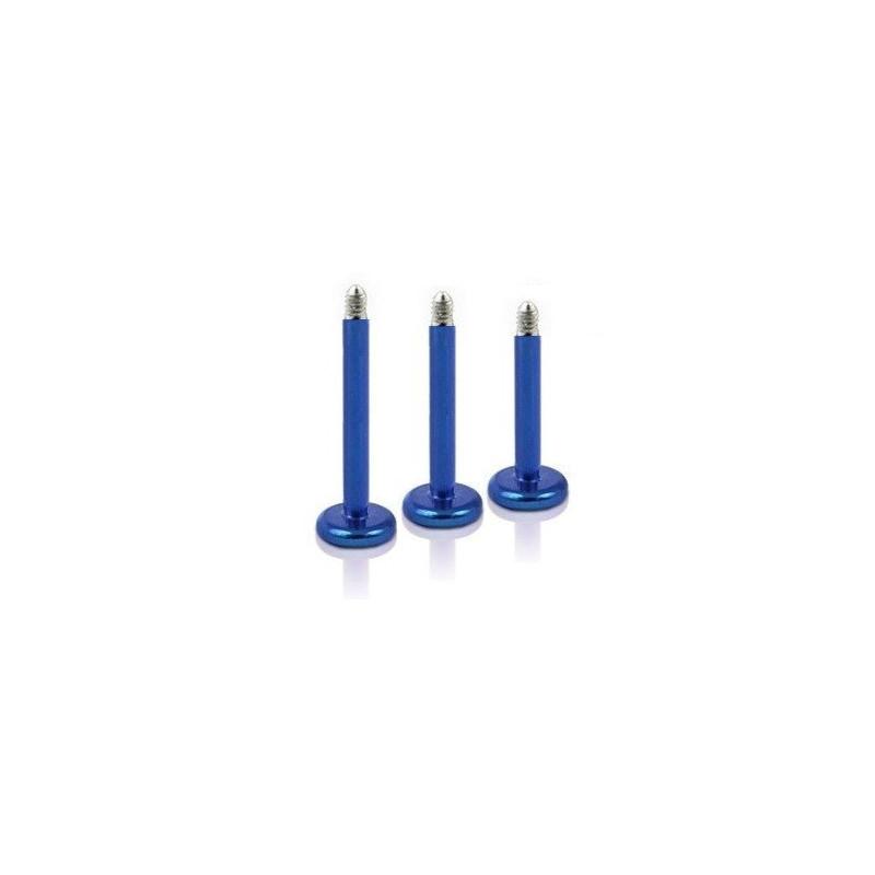 micro Barre de piercing pour Labret en titane anodisé de couleur bleu pas cher de qualité