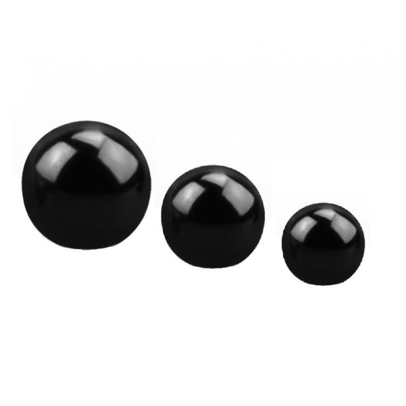 Bille de piercing en titane anodisé noir 1.2 mm adaptable arcade, labret, oreille, hélix, tragus
