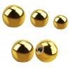 Bille de piercing en titane anodisé doré 1.2 mm adaptable arcade, labret, oreille, hélix, tragus