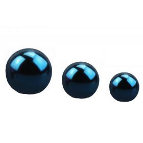 Bille de piercing en titane anodisé couleur bleu 1.2 mm adaptable arcade, labret, oreille, hélix, tragus