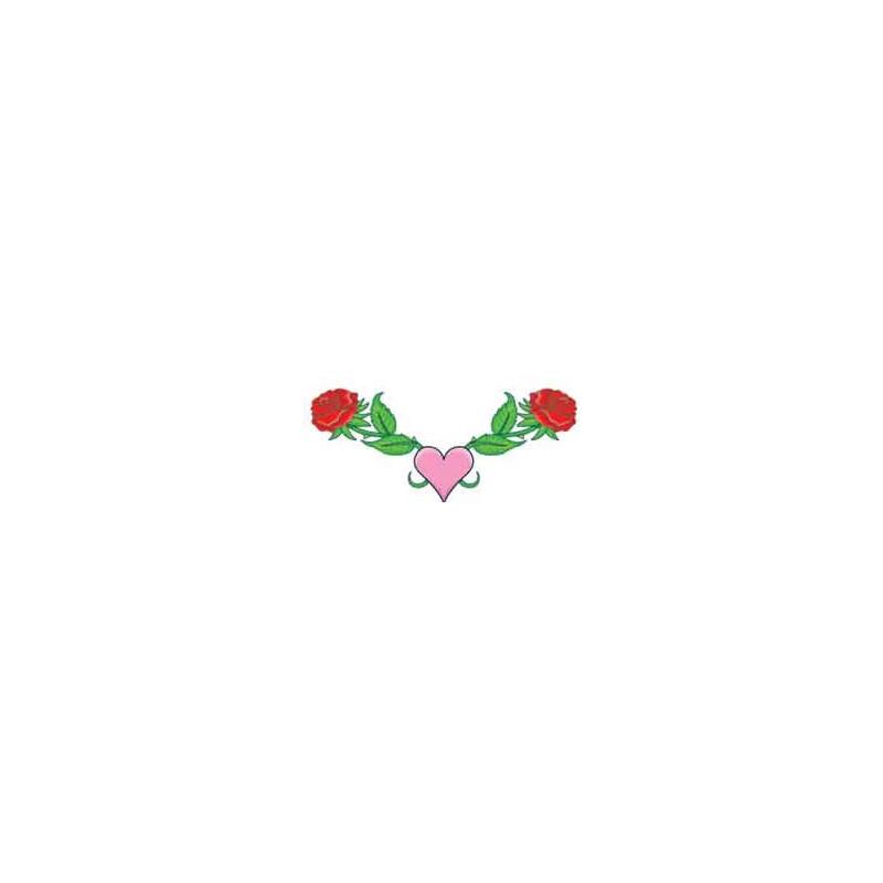 Tatouage Coeur et rose