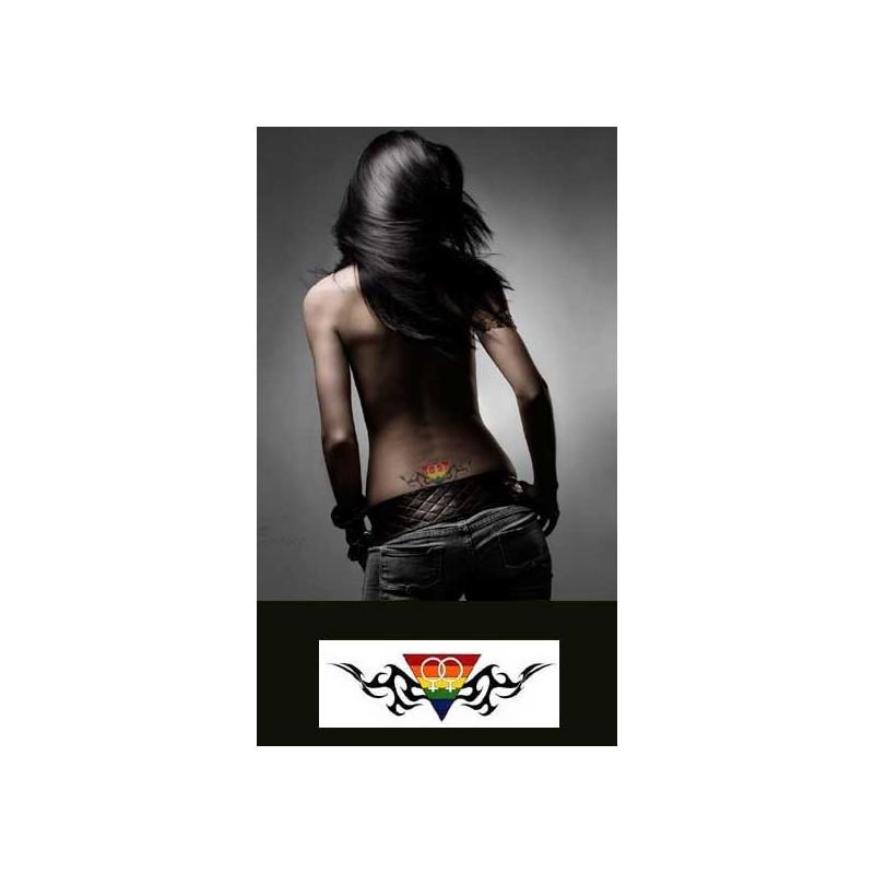 Tatouage temporaire Gay pride femme