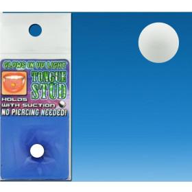 Faux piercing de langue en plastique acrylique de couleur blanc pas cher