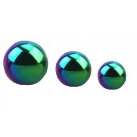 Bille de piercing 1.6 mm de diamètre en titane essence couleur arc en ciel pour le nombril, la langue et le téton