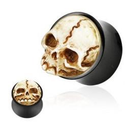 Piercing Plug Tête de mort Organique