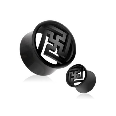 Piercing Plug Organique Zen en corne de buffle