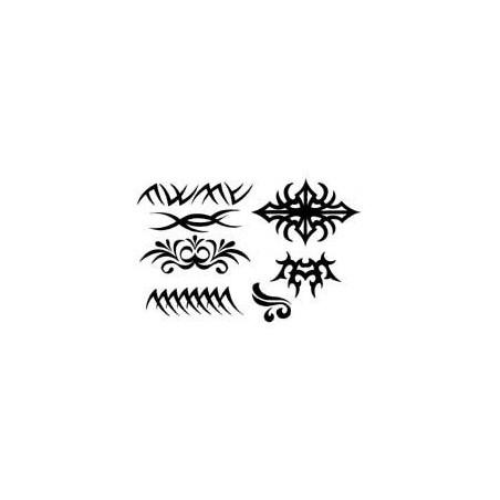 Tattoo Tribal autocollant noir petit modele