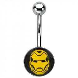 Piercing nombril Iron man