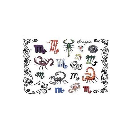 Tattoos Zodiaque autocollants Scorpion
