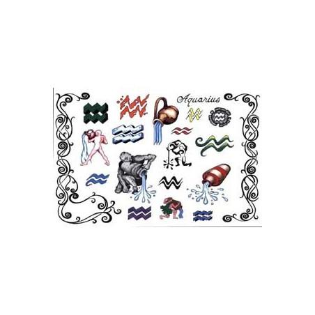 Tattoos Zodiaque autocollants Verseau
