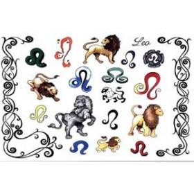 Tattoos Zodiaque autocollants Lion