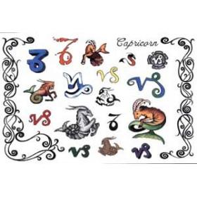 Tattoos Zodiaque autocollants Capricorne