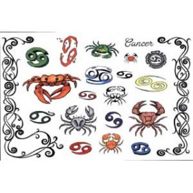 Tattoos Zodiaque autocollants Cancer