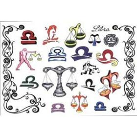 Tattoos Zodiaque autocollants Balance