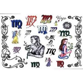 Tattoos Zodiaque autocollants Vierge