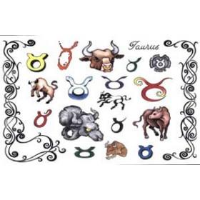 Tattoos Zodiaque autocollants Taureau