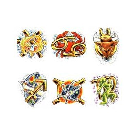 Tattoo autocollant Zodiaque