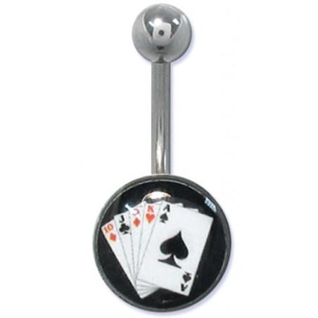 Piercing nombril casino logo poker