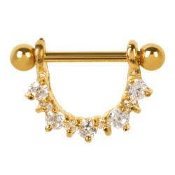 Piercing téton pendant doré