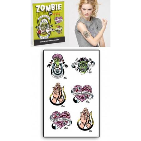 Tattoos temporaires autocollants Zombies