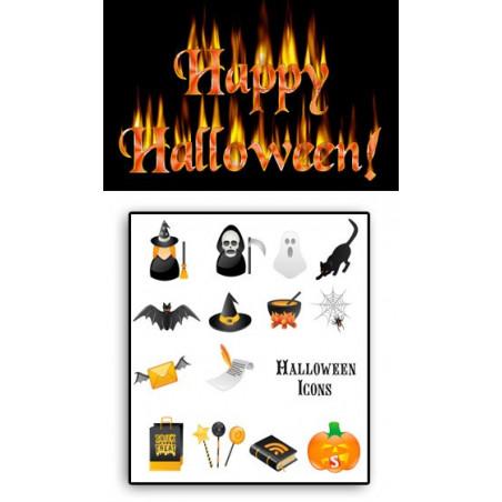 Tattoos temporaires Halloween
