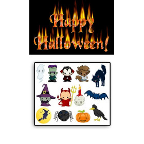 Tatouages temporaires Halloween 02