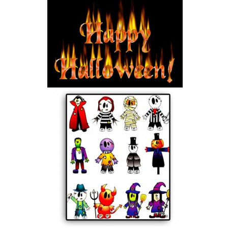Tatouages temporaires Halloween 03