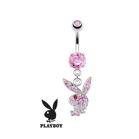 Piercing nombril Playboy pendant Rose