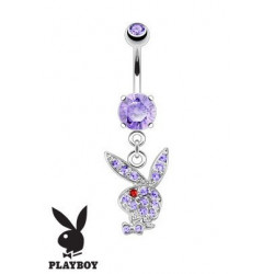 Piercing nombril Playboy pendant Violet
