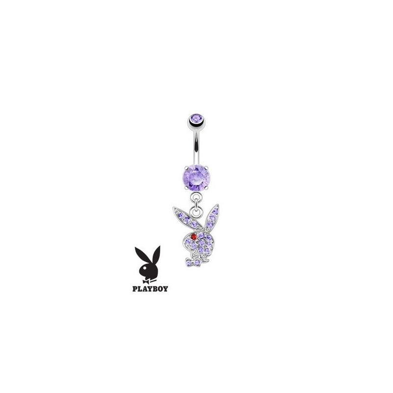 Piercing nombril Playboy pendant Violet bijou de la marque playboy pas cher