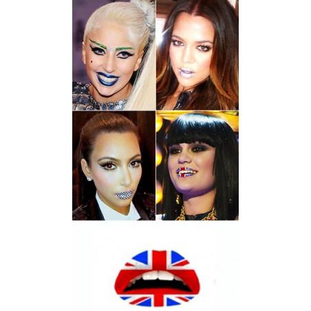Tattoo temporaire Levre drapeau Anglais