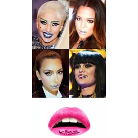 Lips Tattoo KISS rose