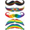 Tatouages temporaires Moustaches Gay Pride