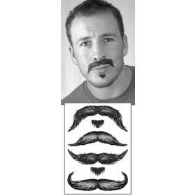 Tatouages temporaires Moustaches Don Juan
