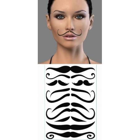 Tatouages temporaires Moustaches Fines