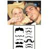 Tatouages temporaires Fingerstach Moustaches
